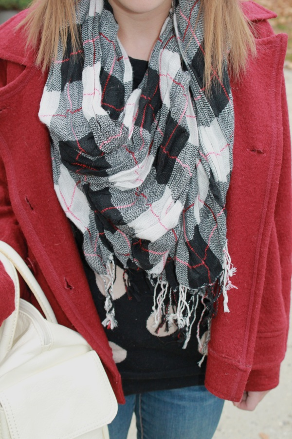 Old Navy Red Plaid Scarf Plaid Scarf For $18 Old