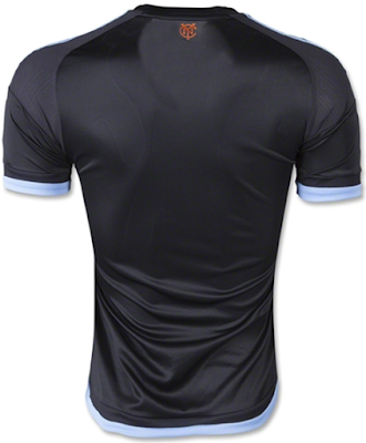 2015-16 New York City FC Black Away Soccer Jersey