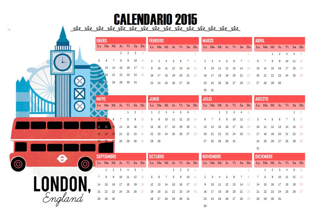calendario Londres 2015