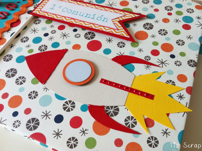 Tiz scrap un viajecito en cohete os anim is - Dibujos infantiles del espacio ...