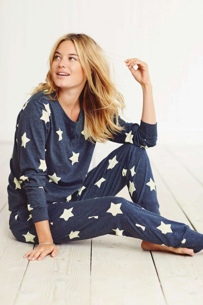 Next Lingerie and Sleepwear Holiday 2014 Lookbook featuring Camille Rowe