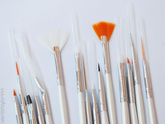 Born Pretty Store 15 Piece Nail Art Brush Set