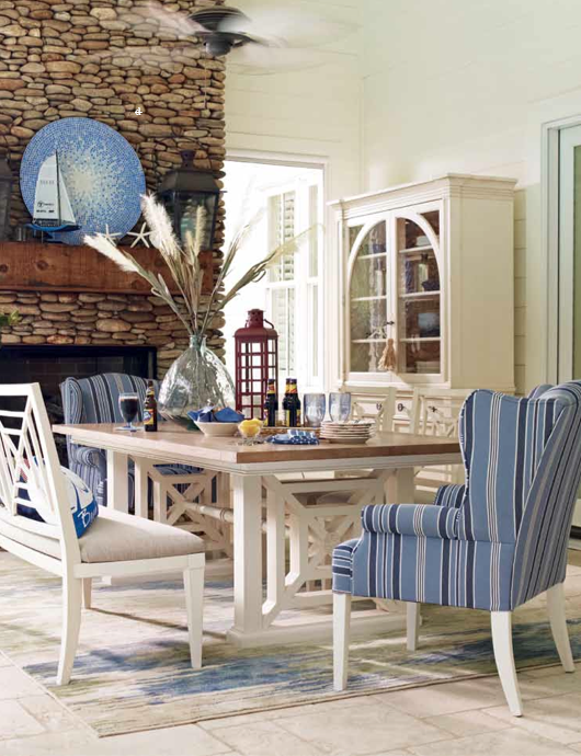 Add Color To Your Dining Setting With This Dining Wing Chair From The  Wateru0027s Edge HGTV Home Collection   Available In Over 50 Fabrics.