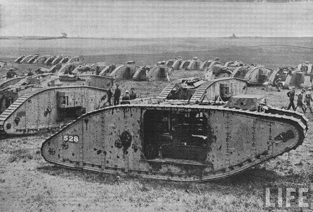 El primer tanque de la historia