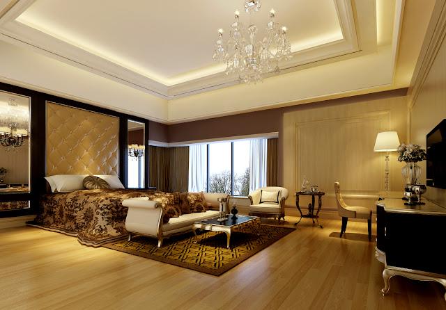 Mẫu trần thạch cao đẹp phòng ngủ Master bedroom Biệt thự cao cấp
