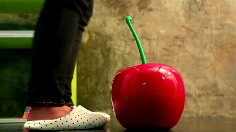 Cherry Bin, un diseño de cereza para una papelera