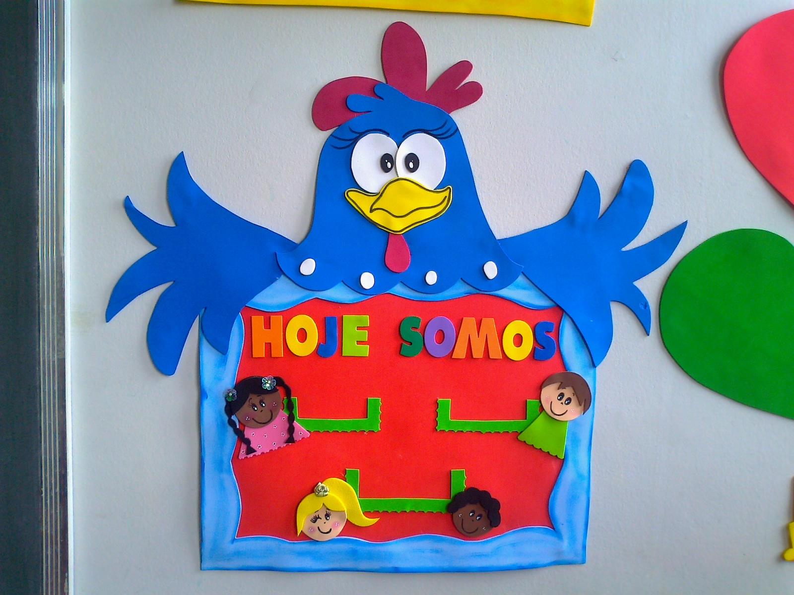 painel sala de aula galinha pintadinha aniversariante