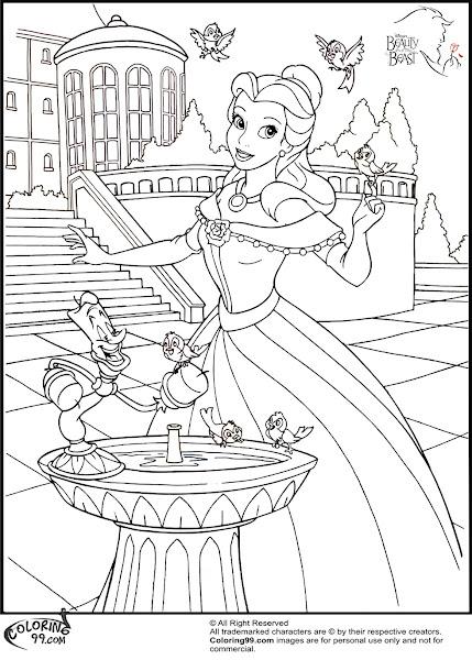 Disney Princess Face Coloring Pages