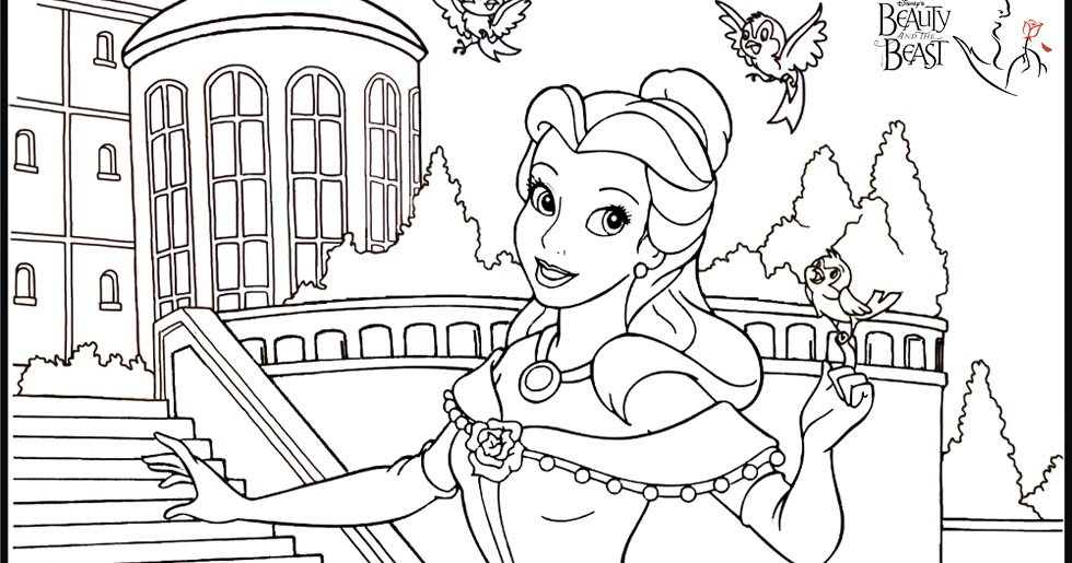 Disney Princess Belle Coloring Pages Minister Coloring