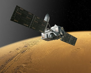 Artist's impression of the ExoMars Trace Gas Orbiter