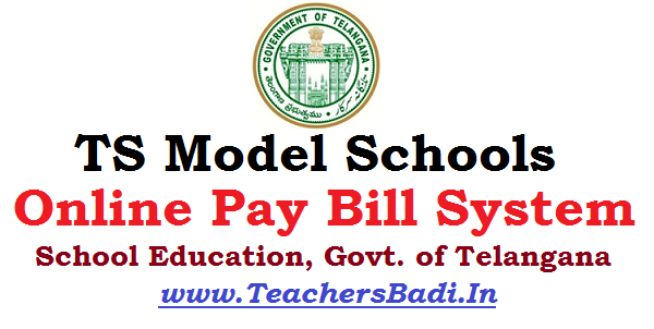 TS Model Schools,Online Pay Bill System,User Guide