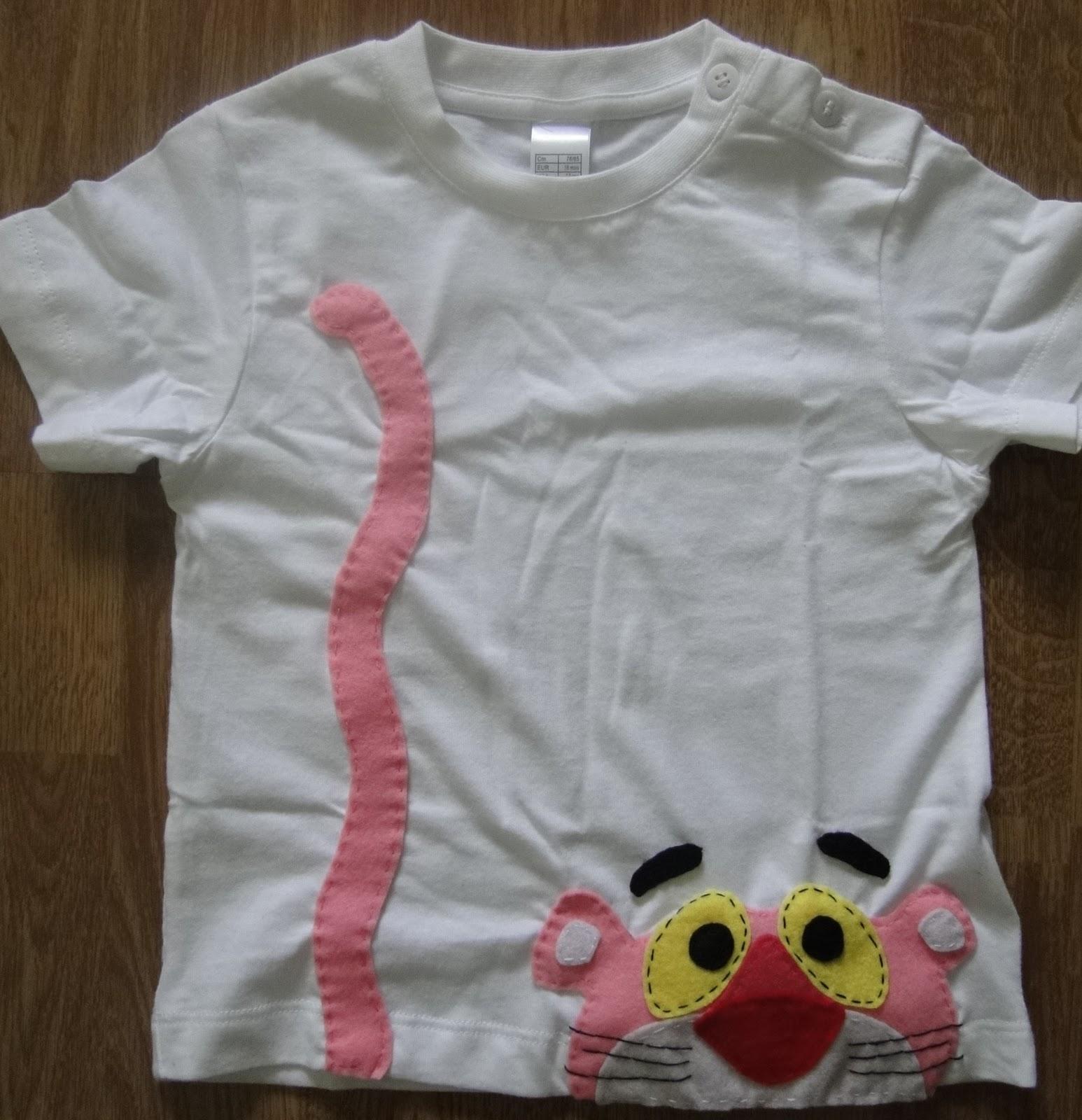 Camisetas Para Ni  Os Con Dibujos De Fieltro  Color Blanco    8