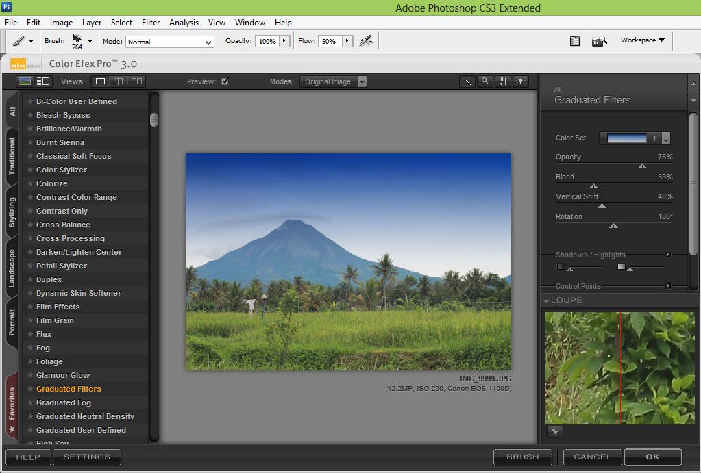 pic cara belajar how to create tutorial photoshop pemula membuat pegunungan cerah merapi color efek pro 3