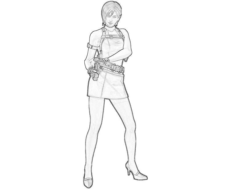 ada wong coloring pages - photo#6