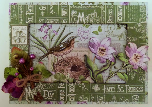 Time To Flourish Decorative Frame March Clare Charvill Jones Crafts Graphic 45