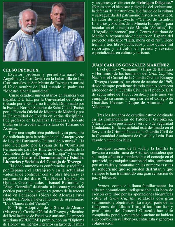 Biografía Celso Peyroux, Juan Carlos González