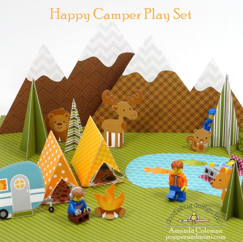 Doodlebug Design Inc Blog: Happy Camper: Lego & Paper Play Set