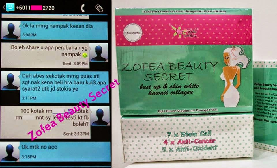 ZOFEA SECRET BEAUTY : RM120 +FREE POS