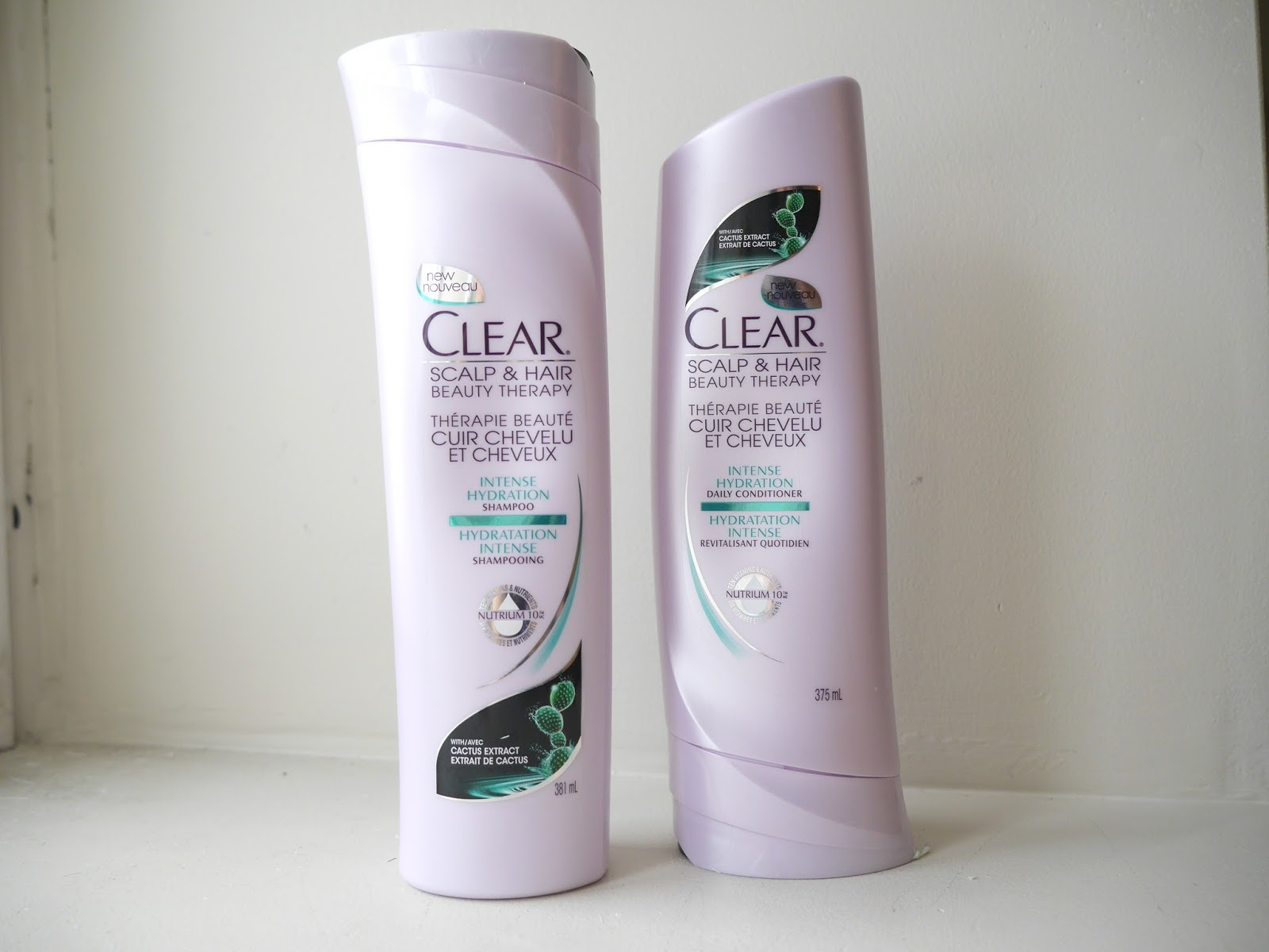 clear intense hydration shampoo and conditioner review