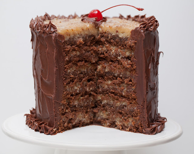 flour child: German Chocolate Cake for Dad