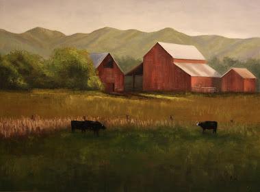 """""""pasture grazing"""" 18x24"""