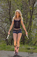 Paige Wyatt Leggy Cleavage – American Guns Photoshoot 15x Pictures