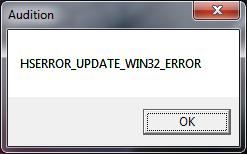 HSERROR_UPDATE_WIN32_ERROR