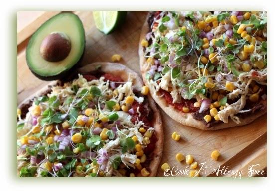 Easy, Healthy, #GlutenFree, #DairyFree Mexican Pizza Recipe