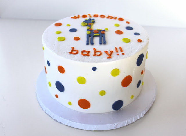 Baby Polka Dot Cake for Baby Shower