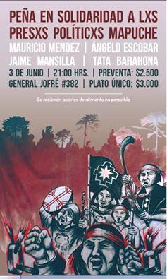 SANTIAGO: PEÑA EN  SOLIDARIDAD A LXS PRESXS POLITICXS MAPUCHE