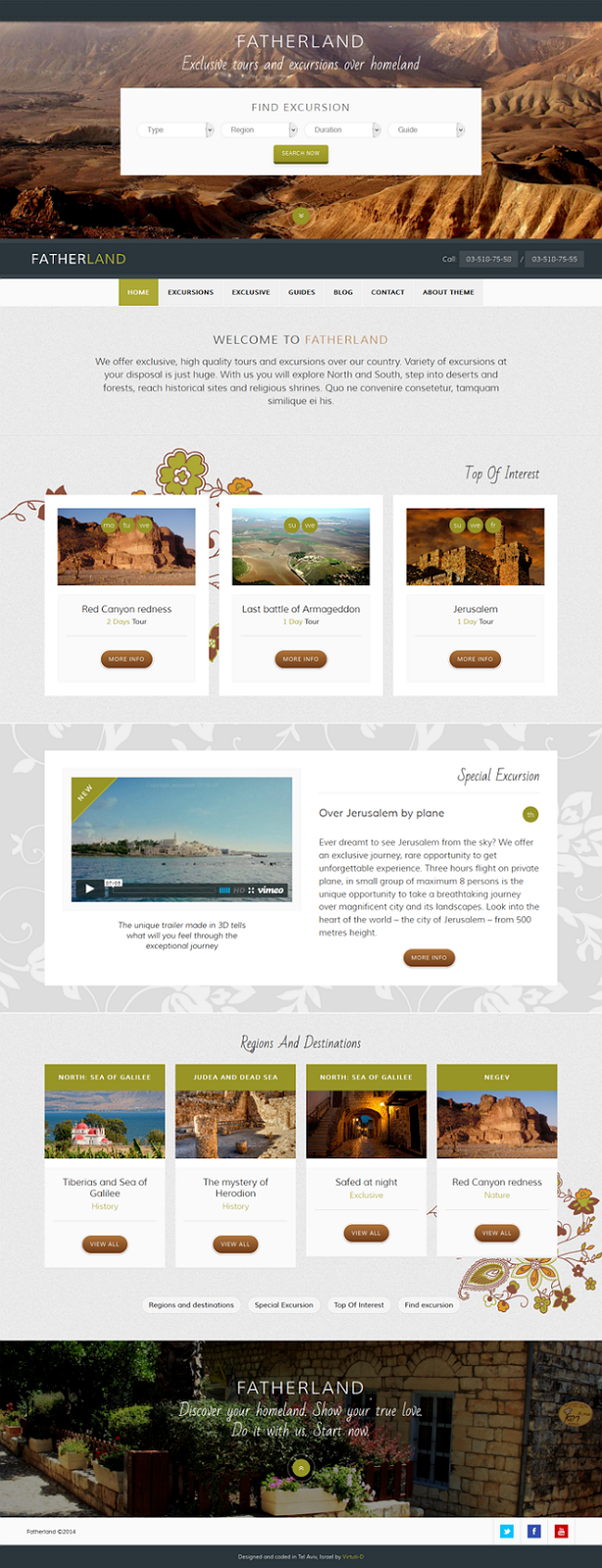 Free Responsive Travel WordPress Template