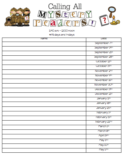 class sign up sheet template .