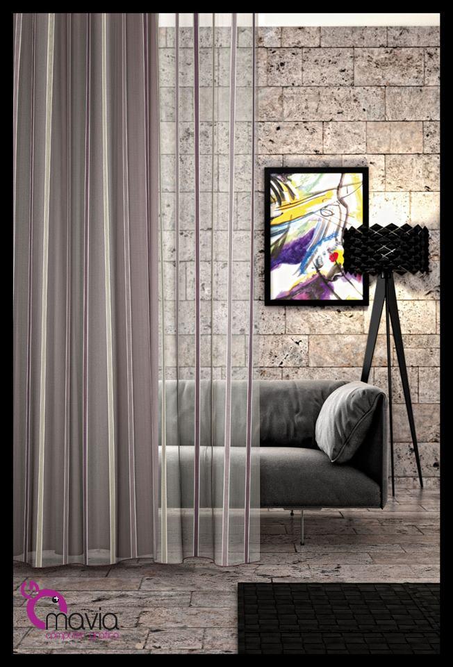 Arredamento di interni: tende per interni moderne, tessuti e ...