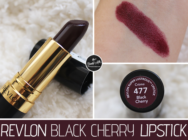revlon black cherry lipstick review swatch