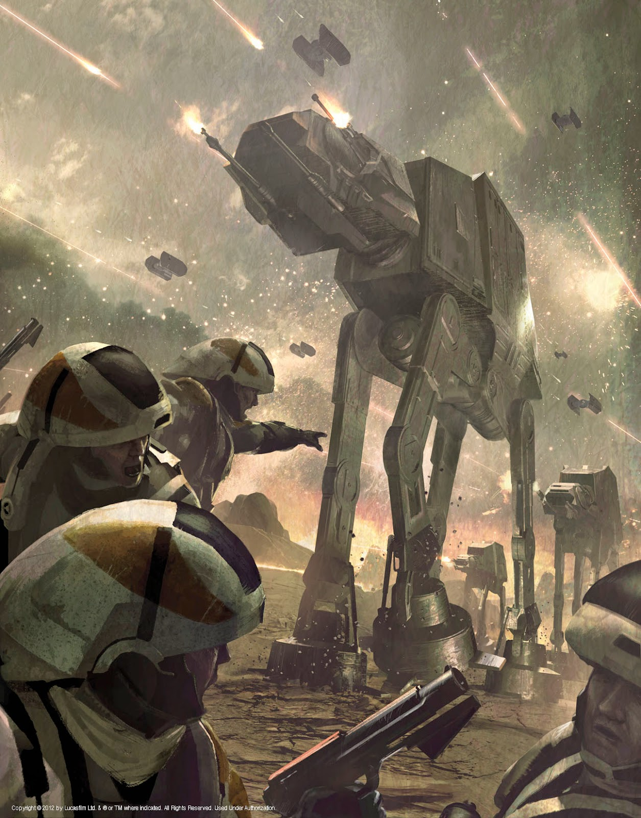 Combat between rebels and the empire