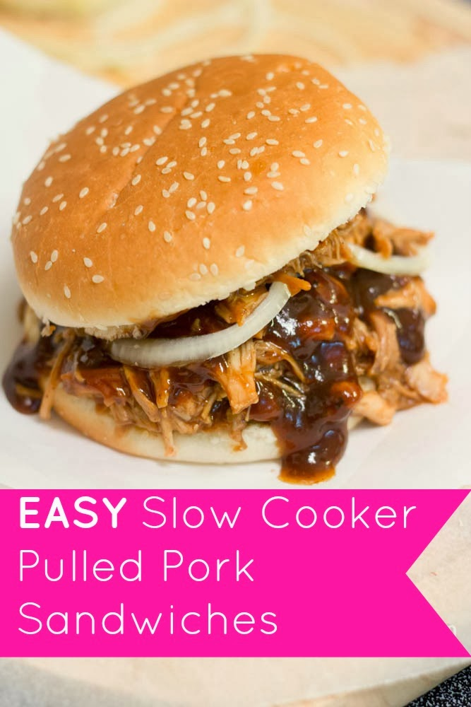 THE RUSTIC REDHEAD: EASY Slow Cooker Pulled Pork Sandwiches