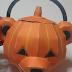 ペーパークラフト ハロウィンのかぼちゃ?(くまなのかな)
