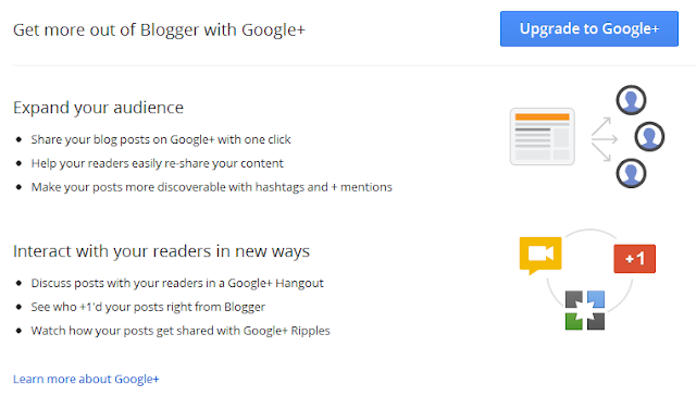 Blogger Google+ Tab Options