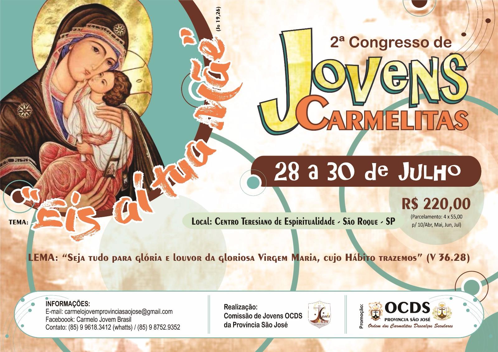 2º Congresso de Jovens Carmelitas