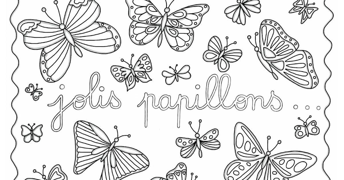 Cocolico creations mercredi coloriage 10 jolis papillons - Coloriage de papillon ...