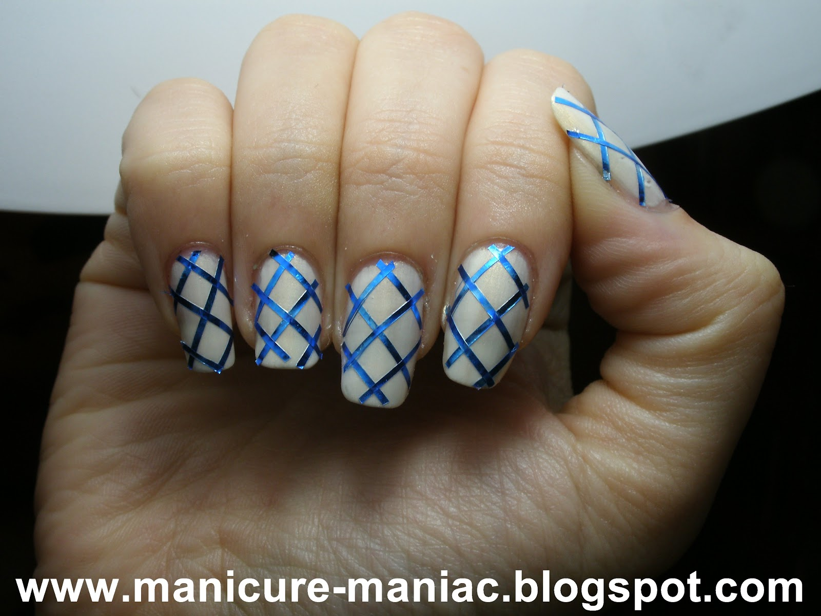 To create this look, I used Nails Inc Old Queen Street, then used a