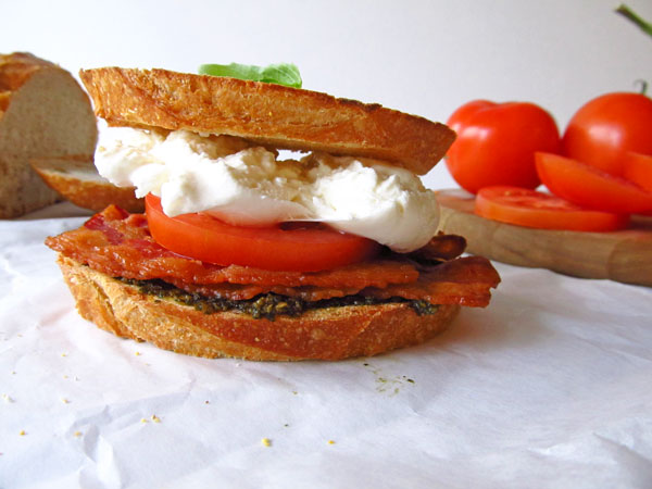 Delicious Stacked Burrata BLT
