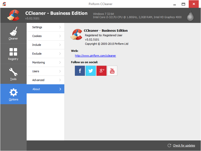 CCleaner 5.02 Business Edition Full Version