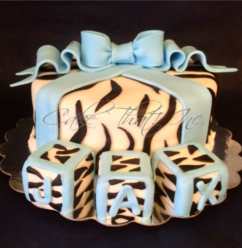 cake that inc zebra baby shower cake