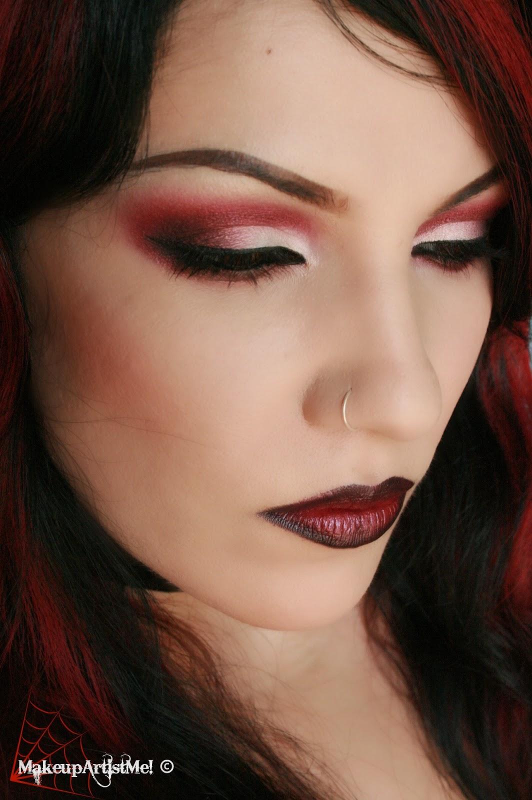 Burgundy makeup