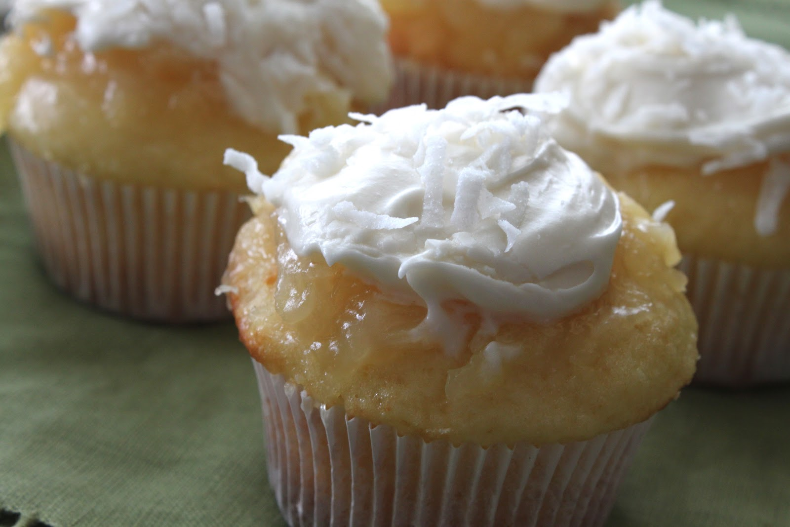 A Bountiful Kitchen: Pineapple-Coconut Cupcakes with ...