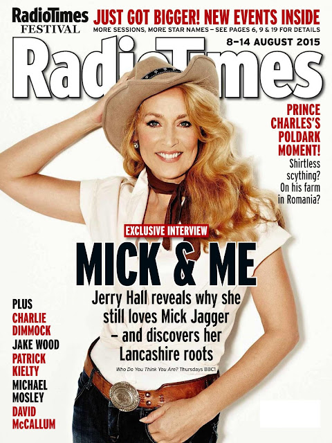 Supermodel, Actress @ Jerry Hall - Radio Times UK, August 2015