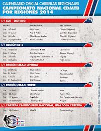 Calendario Campeonato Nacional 2014