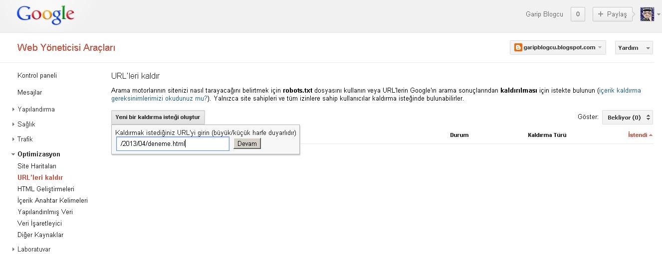 Sitenizden Kaldırdığınız İçeriği Google Arama Sonuçlarından Silme