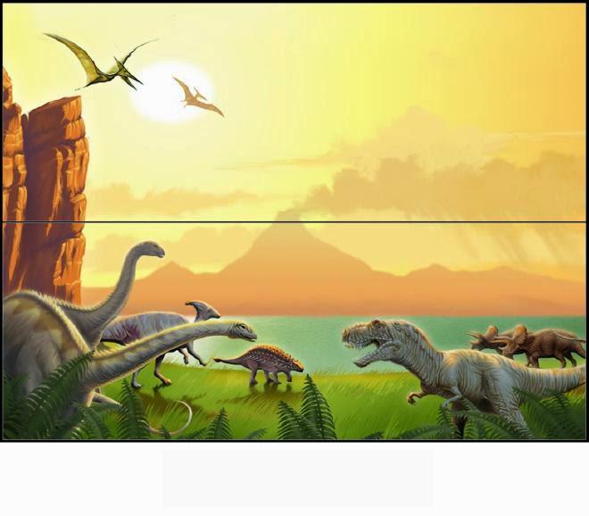 Dinosaurios: Etiquetas para Bolsas de Golosinas para Imprimir ...